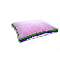 Duża aksamitna poduszka folk glamour (Pudrowy Róż)
