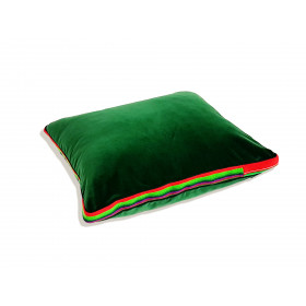 Duża poduszka folk glamour aksamit ( Zielony )