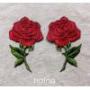 Zestaw naszywek Czerwone Róże - Lustrzane Odbicie 2