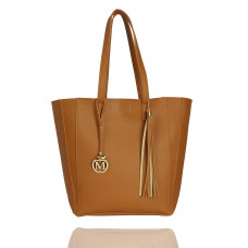 Manzana Duża torba klasyczna torebka 2w1 karmelowa