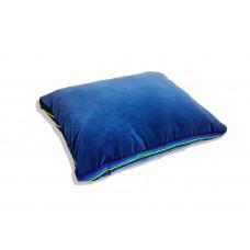 Poduszka folk glamour aksamit 55x45x3,5cm ( Niebieski )