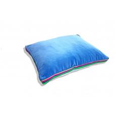 Poduszka folk glamour aksamit 55x45x3,5cm (Jasno-niebieski)