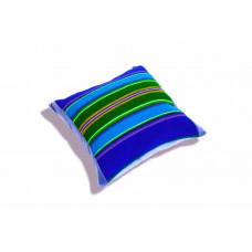 Poduszka folk pasiak łowicki 35x35cm (Niebieska)