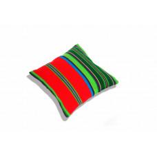 Poduszka folk pasiak łowicki, dwustronny 35x35cm (Czerwona)