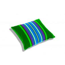 Poduszka folk pasiak łowicki, dwustronny 35x35cm (Zielona)