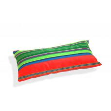Poduszka folk pasiak łowicki, dwustronny, prostokątna 60x30cm (Czerwona )