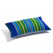 Poduszka folk pasiak łowicki, prostokątna 60x30cm ( Niebieska )
