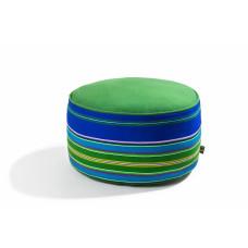 Pufa wełniana folk 60cm (Niebieska/Zielona)