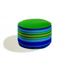 Pufa wełniana folk 60cm (Zielony/Niebieski)