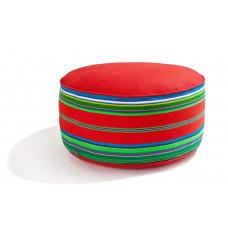 Pufa wełniana folk 80cm (Czerwona)