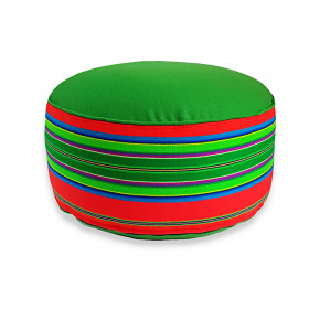 Pufa wełniana folk 80cm (Czerwony/Zielony)