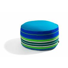 Pufa wełniana folk 80cm  (Niebieska)