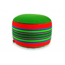 Pufa wełniana Folka 60cm (Czerwony/Zielony)