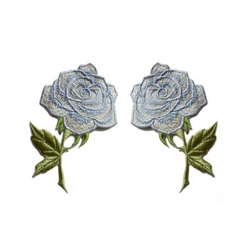 Zestaw naszywek Błękitne Róże - Lustrzane Odbicie