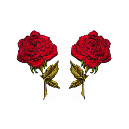 Zestaw naszywek Czerwone Róże - Lustrzane Odbicie