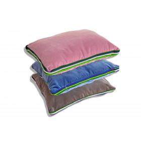 Zestaw pastelowy aksamitnych poduszek folk glamour