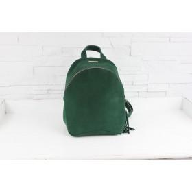 Plecak skórzany - Fabio ZIP butelkowa zieleń