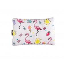 Bambusowa Poduszeczka Muślinowa Flamingi