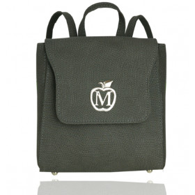 Mały Klasyczny Plecak Vintage Ekoskóra- Szary