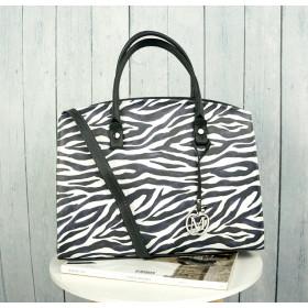 Klasyczna Torebka W Stylu Biznesowym Animal Print Zebra