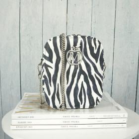 Pudełeczko  Listonoszka Pionowa Na Łańcuszku Zebra Animal Print