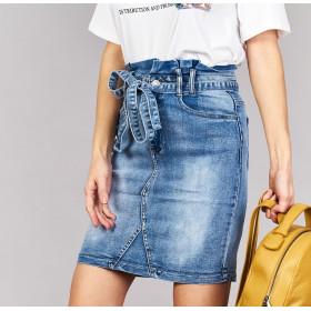 Spódnica Z Wysokim Staniem Jeans
