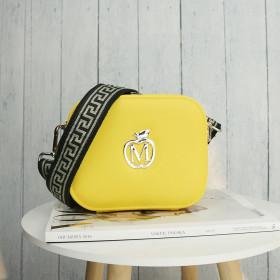 Listonoszka Na Szerokim Pasku Manzana Typu Chanelka Średnia Żółta