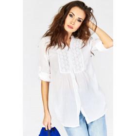 Biała Kobieca Koszula Letnia Od Manzana