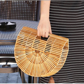 Letni Wakacyjny Koszyk Z Bambusa Duży Od Manzana