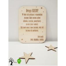 Drewniana kartka z Twoimi życzeniami + PROJEKT
