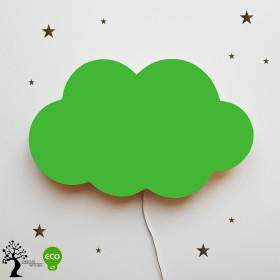 Drewniana lampka nocna chmurka Tosia - Green