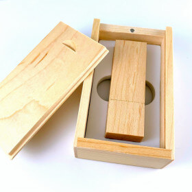 Usb Wood + Box - Light - 64 Gb