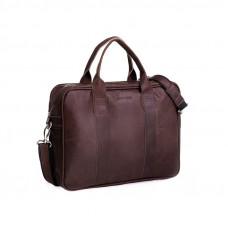 Biznesowa ciemno brązowa męska torba na laptopa