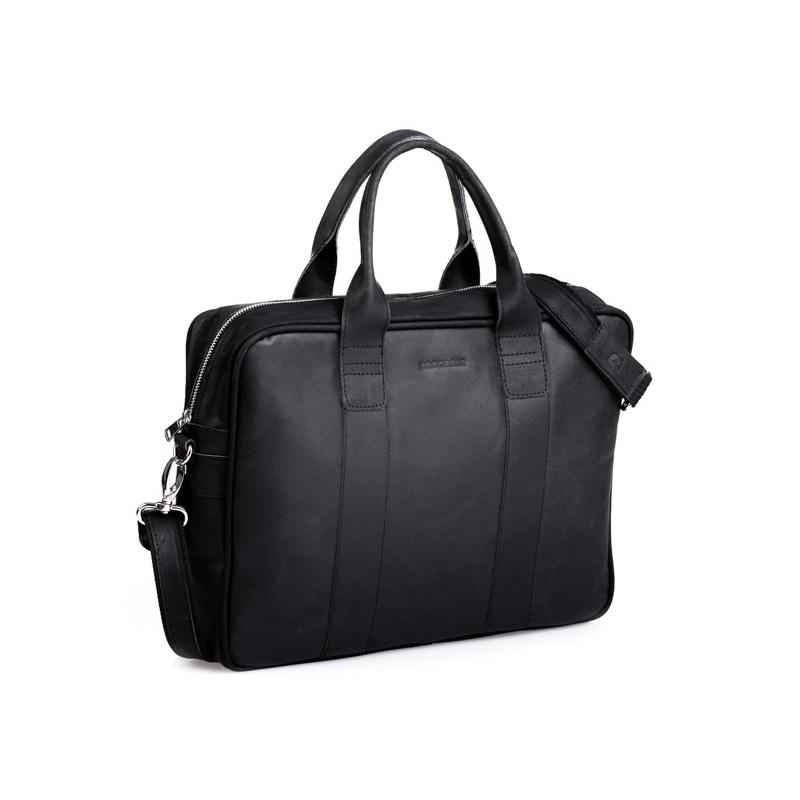 4c83baa56cce4 Kup Biznesowa czarna męska torba na laptopa - Polskie Produkty - POLPOL