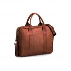 Biznesowa jasno brązowa męska torba na laptopa