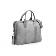 Biznesowa szara męska torba na laptopa
