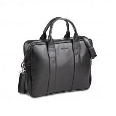 Czarna elegancka torba męska na ramię