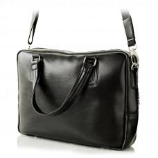 Czarna klasyczna torba na laptopa