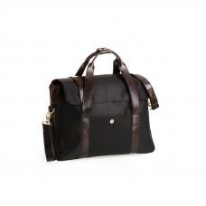 Elegancka i stylowa czarna męska torba