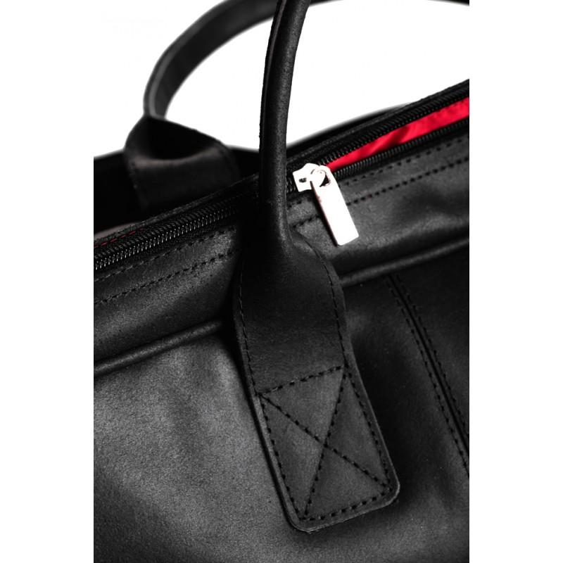 c35fa6f1ae324 Kup Klasyczna czarna skórzana torba podróżna - Polskie Produkty - POLPOL