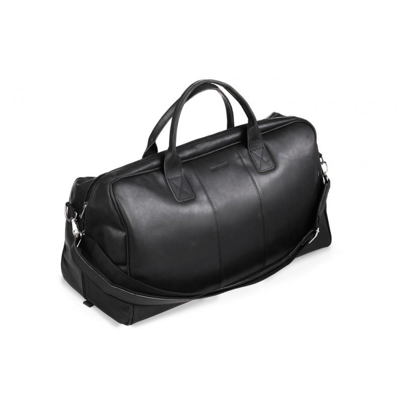 8a814062e07db Kup Klasyczna czarna skórzana torba podróżna - Polskie Produkty - POLPOL