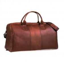 Klasyczna jasno brązowa  skórzana torba podróżna