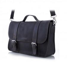 Męska czarna torba w stylu vintage
