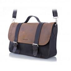 Męska jasno brązowa torba w stylu vintage