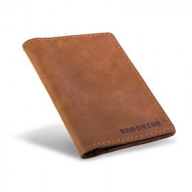 Skórzany cienki jasno brązowy portfel sw01