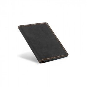 Skórzany czarny cienki portfel sw01