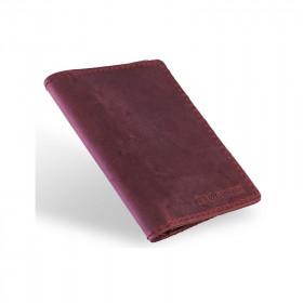 Skórzany czerwony cienki portfel sw01