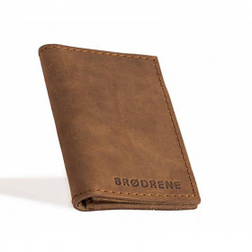 Skorzany jasno brazowy cienki portfel sw03