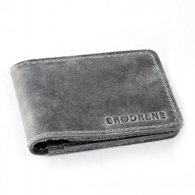 Szary męski portfel slim wallet sw02