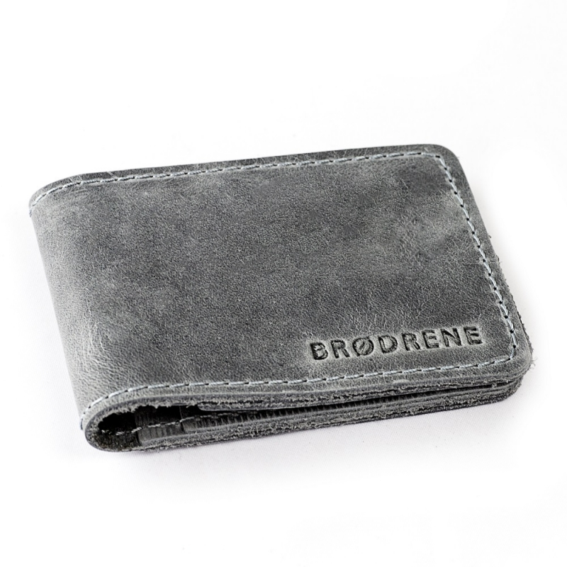 8434efc1f2410 Kup Szary męski portfel slim wallet sw02 - Polskie Produkty - POLPOL